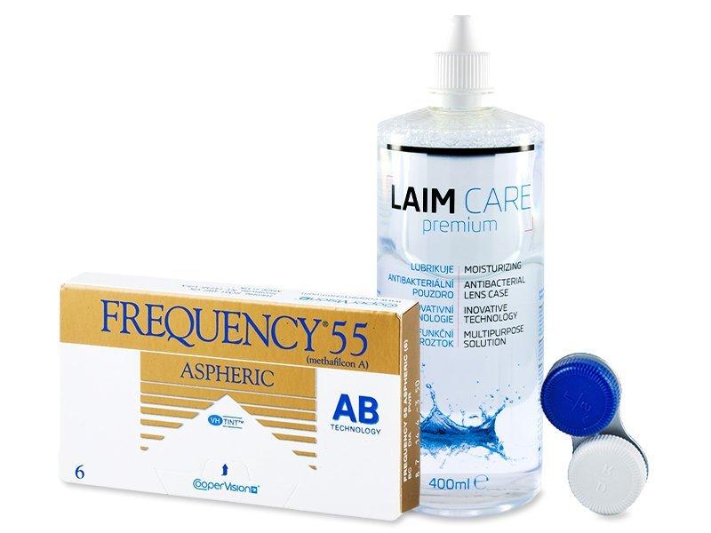 Frequency 55 Aspheric (6läätse) +Laim-Care400ml