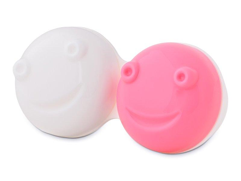 Vibreeriva läätsedekonteineri hoidmise osa - roosa