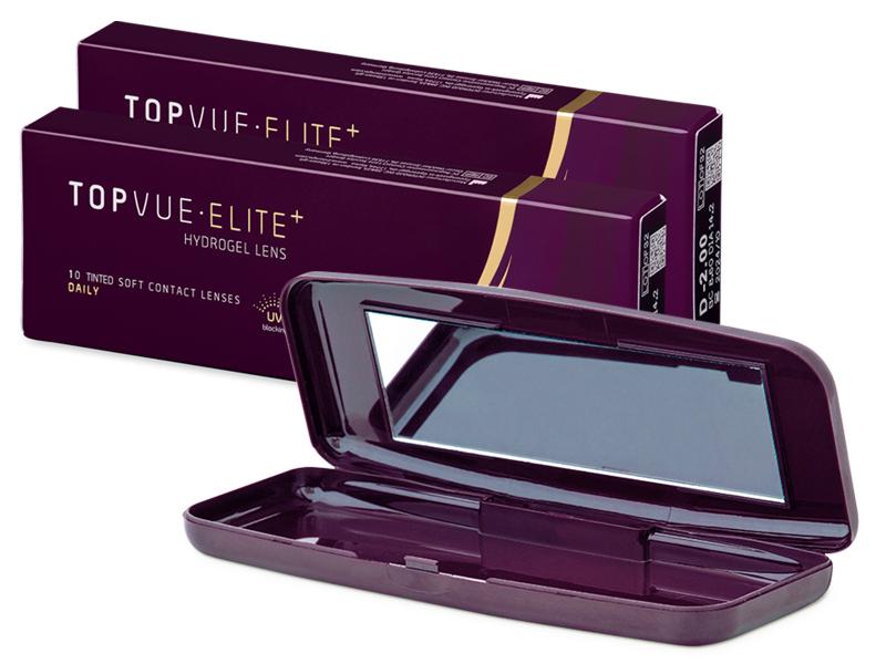 TopVue Elite+ (10 paari) + Läätsekonteiner TopVue Elite