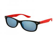 Laste päikeseprillid Alensa Sport must-punased peegel