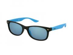 Laste päikeseprillid Alensa Sport must-sinised peegel