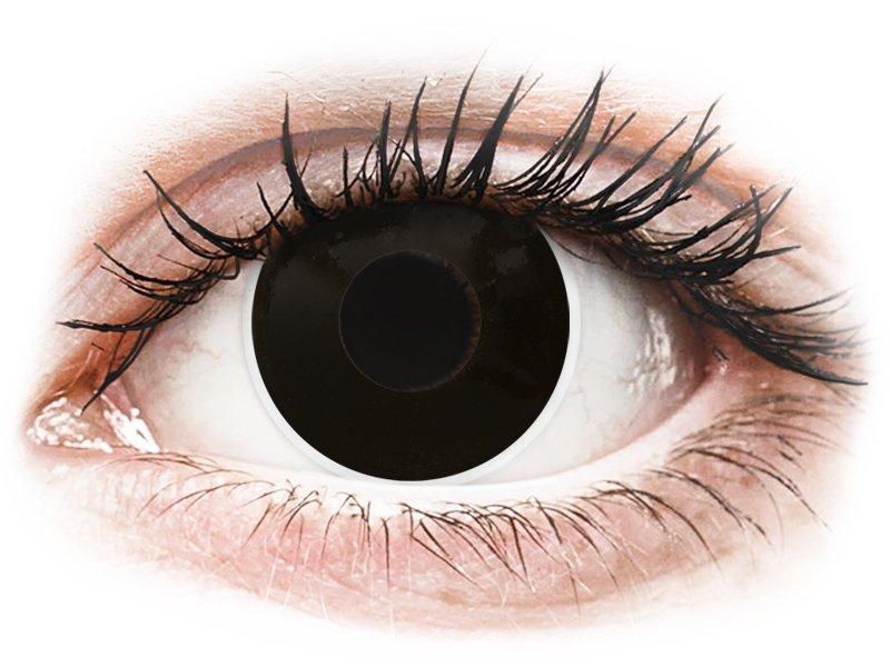 ColourVUE Crazy Lens - BlackOut - 0-tugevusega (2 läätse)