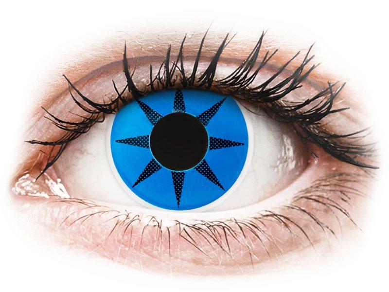 ColourVUE Crazy Lens - Blue Star - 0-tugevusega (2 läätse)