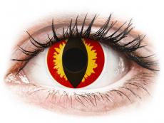 ColourVUE Crazy Lens - Dragon Eyes - 0-tugevusega (2 läätse)