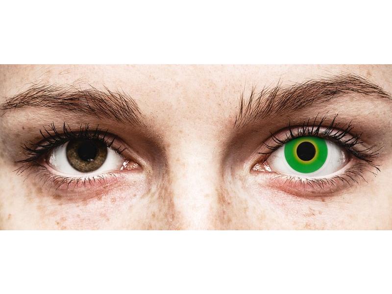ColourVUE Crazy Lens - Hulk Green - 0-tugevusega (2 läätse)