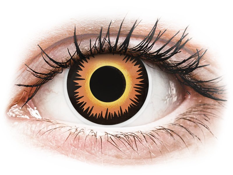 ColourVUE Crazy Lens - Orange Werewolf - 0-tugevusega (2 läätse)