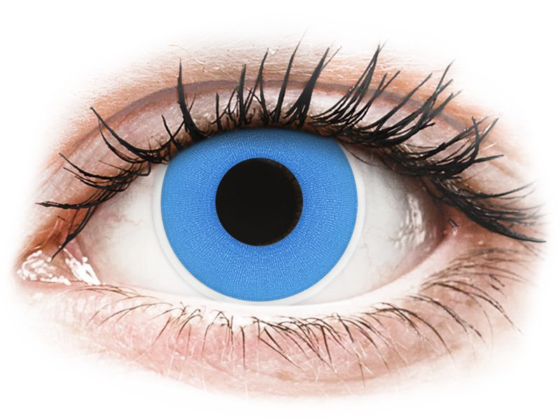 ColourVUE Crazy Lens - Sky Blue - 0-tugevusega (2 läätse)