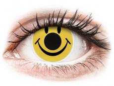 ColourVUE Crazy Lens - Smiley - 0-tugevusega (2 läätse)