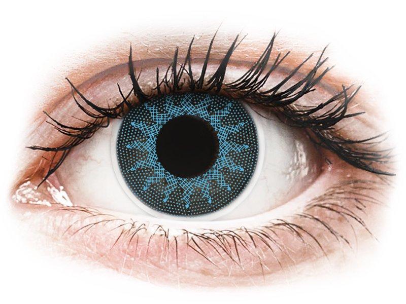 ColourVUE Crazy Lens - Solar Blue - 0-tugevusega (2 läätse)