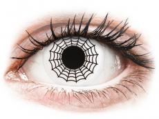 ColourVUE Crazy Lens - Spider - 0-tugevusega (2 läätse)