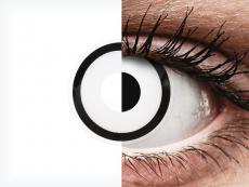 ColourVUE Crazy Lens - White Zombie - 0-tugevusega (2 läätse)