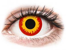 ColourVUE Crazy Lens - Wildfire - 0-tugevusega (2 läätse)