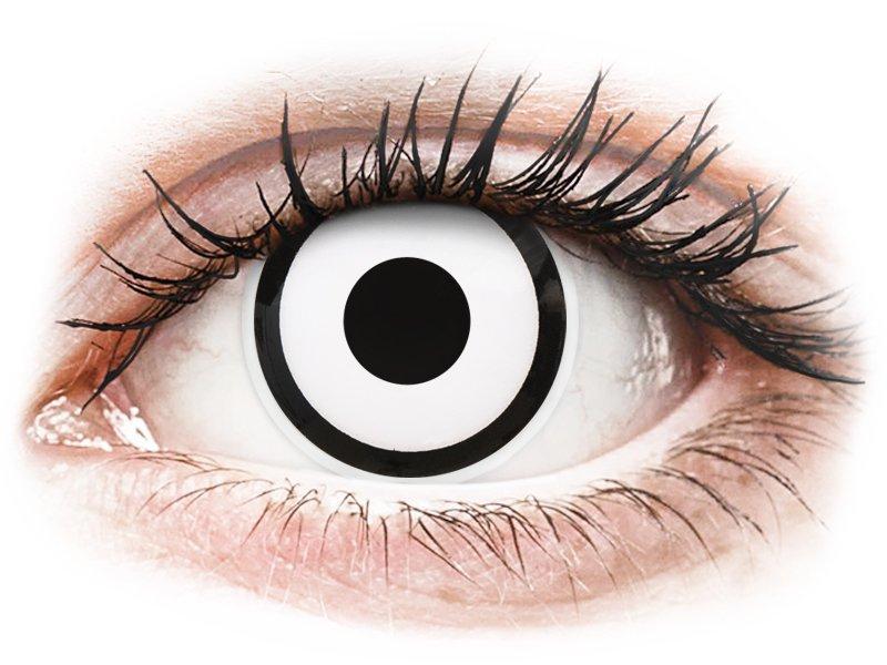 ColourVUE Crazy Lens - White Zombie - Korrigeerivad (2 läätse)