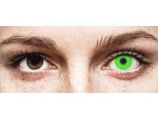ColourVUE Crazy Glow Green - 0-tugevusega (2läätse)