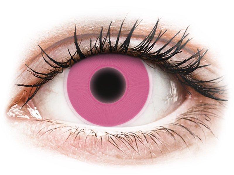 ColourVUE Crazy Glow Pink - 0-tugevusega (2läätse)