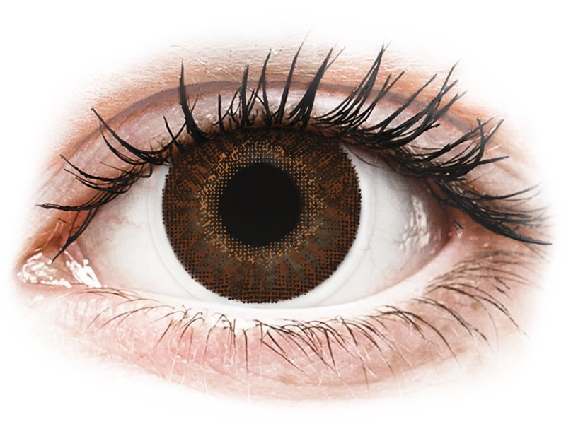 TopVue Color - Brown - 0-tugevusega (2 läätse)