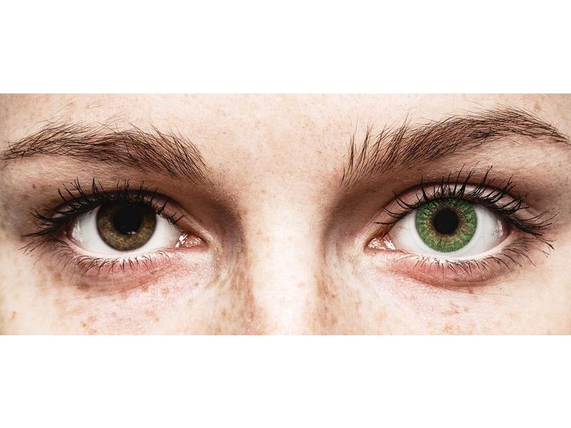 TopVue Color - Green - 0-tugevusega (2 läätse)