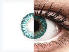 TopVue Color - Turquoise - 0-tugevusega (2 läätse)