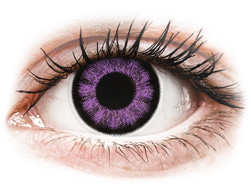 ColourVUE BigEyes Ultra Violet - 0-tugevusega (2läätse)