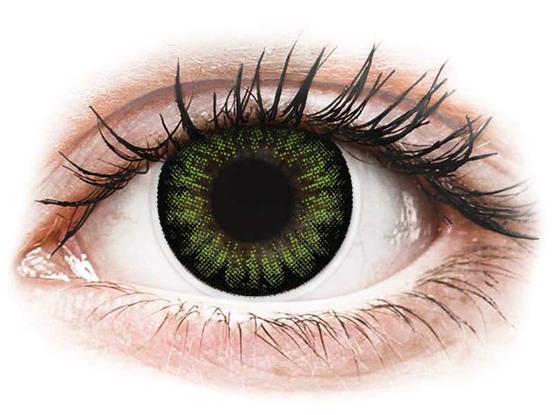 ColourVUE BigEyes Party Green - 0-tugevusega (2läätse)