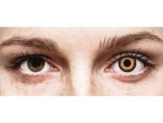 ColourVUE Crazy Lens - Orange Werewolf - Ühepäevased läätsed 0-tugevusega (2 läätse)