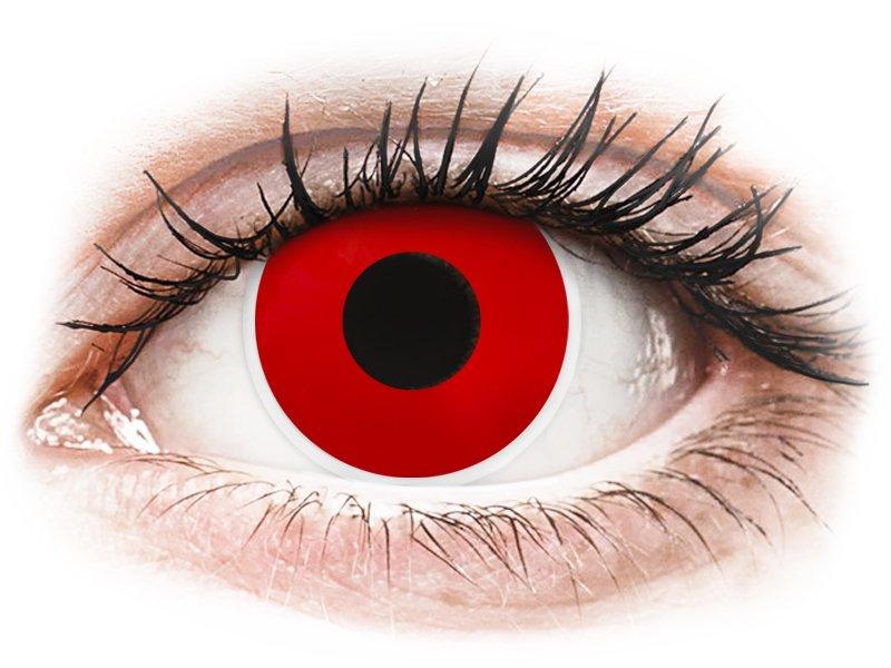 ColourVUE Crazy Lens - Red Devil - Ühepäevased läätsed 0-tugevusega (2 läätse)