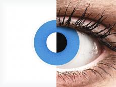 ColourVUE Crazy Lens - Sky Blue - Ühepäevased läätsed 0-tugevusega (2 läätse)