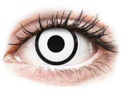 ColourVUE Crazy Lens - White Zombie - Ühepäevased läätsed 0-tugevusega (2 läätse)