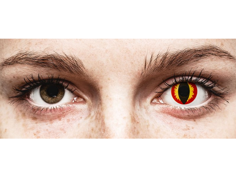 ColourVUE Crazy Lens - Dragon Eyes - Ühepäevased läätsed 0-tugevusega (2 läätse)
