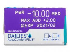 Dailies AquaComfort Plus Multifocal (30läätse)