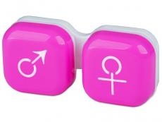 Läätsekonteiner Mees-Naine - roosa