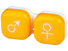 Läätsekonteiner Mees-Naine - kollane