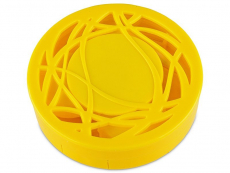 Peegliga läätsekonteiner - kollane ornament