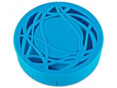 Peegliga läätsekonteiner - sinine ornament