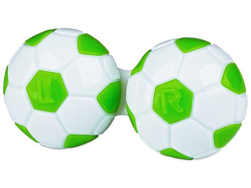 Läätsekonteiner Jalgpall - roheline