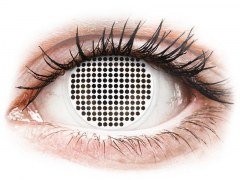 ColourVUE Crazy Lens - White Screen - 0-tugevusega (2 läätse)