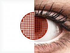 ColourVUE Crazy Lens - Red Screen - 0-tugevusega (2 läätse)