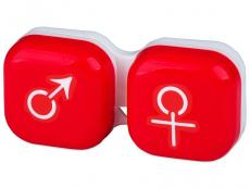 Läätsekonteiner Mees-Naine - punane