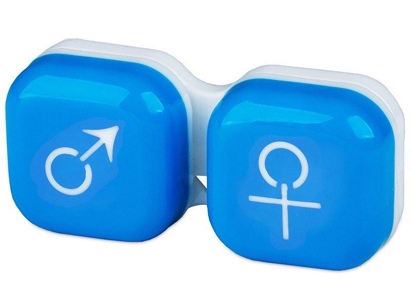 Läätsekonteiner Mees-Naine - sinine