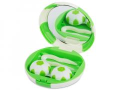 Peegliga konteiner Jalgpall - roheline