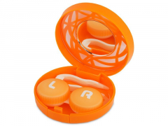 Peegliga läätsekonteiner - oranz ornament