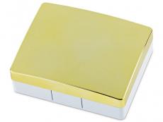 Elegantne peegliga läätsekonteiner - kollane