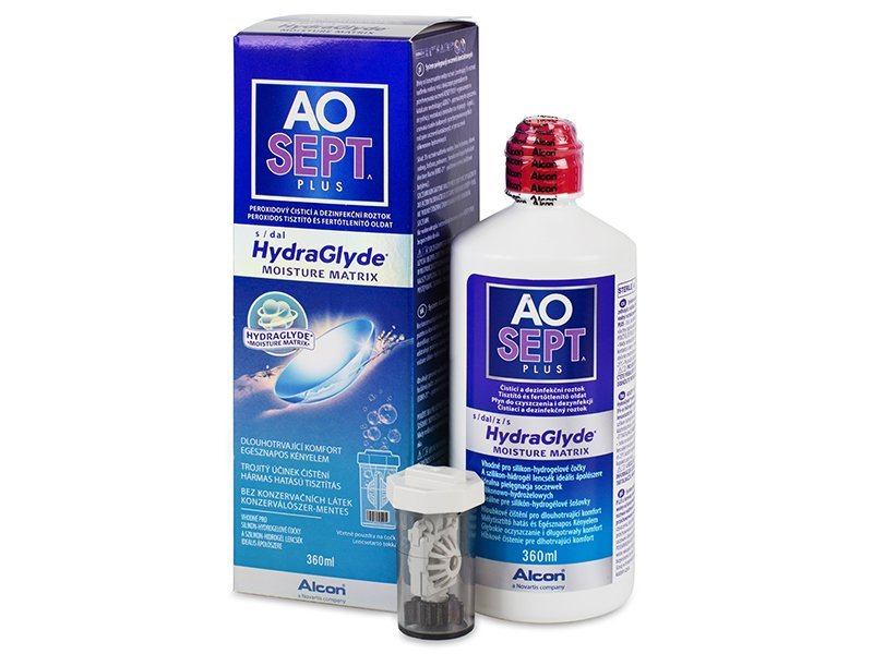 AO SEPT PLUS HydraGlyde Läätsevedelik 360 ml