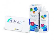 Acuvue 2 (6 läätse) + Gelone 360 ml
