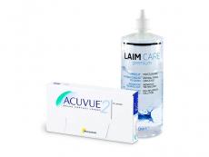 Acuvue 2 (6 läätse) + Laim-Care 400 ml