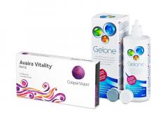 Avaira Vitality Toric (3 läätse) + Gelone 360 ml