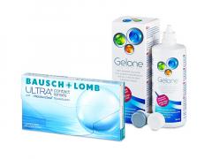Bausch + Lomb ULTRA (3 läätse) + Gelone 360 ml