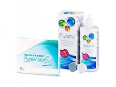 PureVision 2 (3 läätse) + Gelone 360 ml