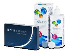 TopVue Premium (6 läätse) +Gelone360ml