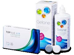 TopVue Air for Astigmatism (3läätse) + Gelone 360 ml
